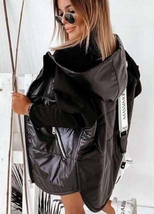 Очень стильная комбинированная курточка, ветровка