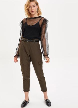 Чёрная фатиновая блуза в горох бренд defacto новая с этикеткой