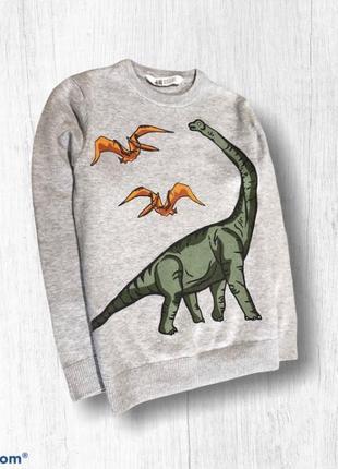 H&m джемпер весенний легкий на мальчика динозавры