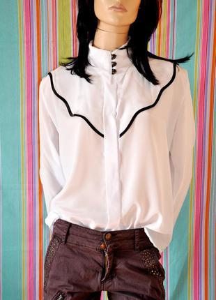Красивая белая блуза/рубашка - classic fashion. италия. 50/52 размер