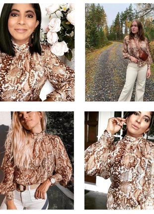 Блуза с принтом питона, h&m