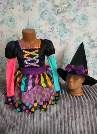 Платье ведьмочки ведьма карнавальный костюм на хэллоуин колдунья