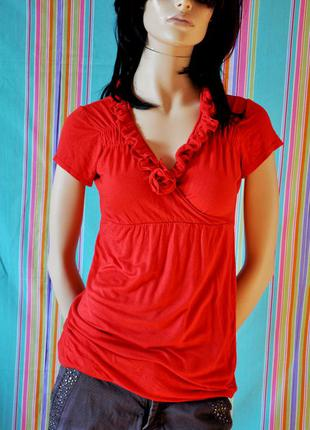 Красивая футболка с розами - h&m. 95% вискоза, 42-46 размер