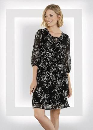 Шифоновое платье в цветы 3xl, 4xl, 48 euro (наш 54-56), esmara, германия