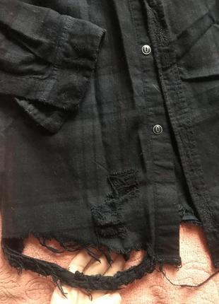 Zara рваная рубашка