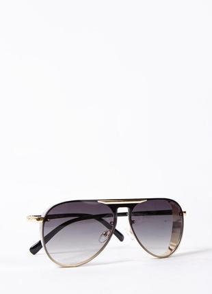 Очки женские солнцезащитные авиатор цвет черный 154r56601-3