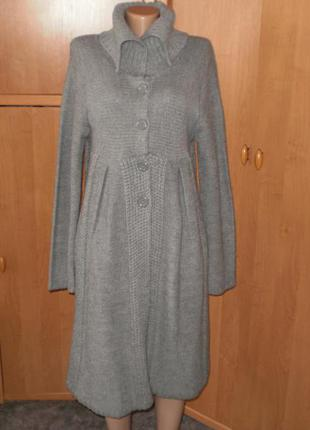 Шикарное вязаное пальто на кнопках от george р. 16