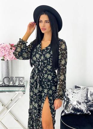 Платье женское миди ниже колена демисезон весна