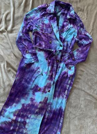 Плаття - плащ в стилі тай дай prettylittlething2 фото