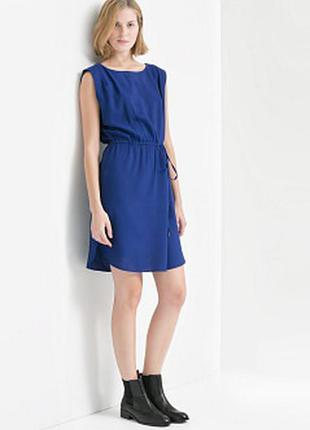 Платье синее mango, s и м