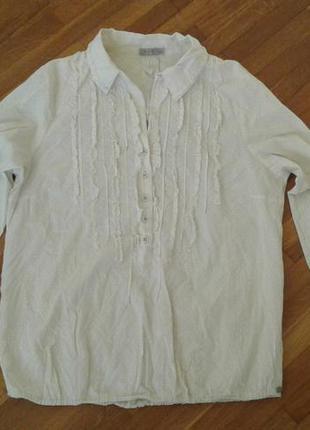 Новая свободная блузочка фактурный хлопок nile xl (42)р.,boho/саsual