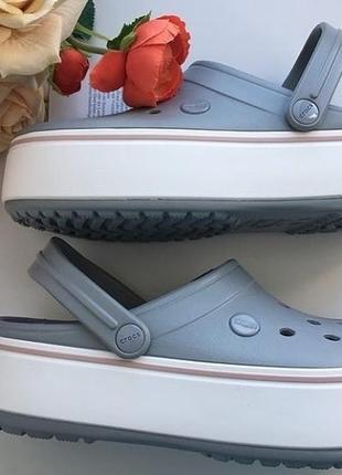 Кроксы crocs platform grey 🌪
