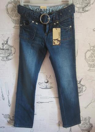 Ликвидация! голландские темно-синие узкие стрейчевые джинсы с поясом на 14 лет