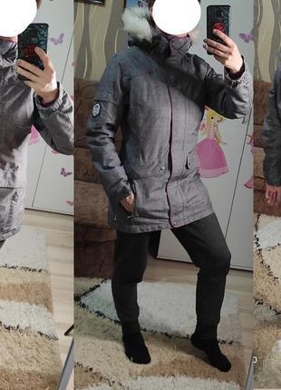Демисезонная удлиненная термо куртка парка с-м (полный высокий хс)