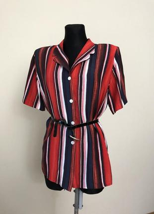 Блузка-рубашка полоска винтаж  90-е