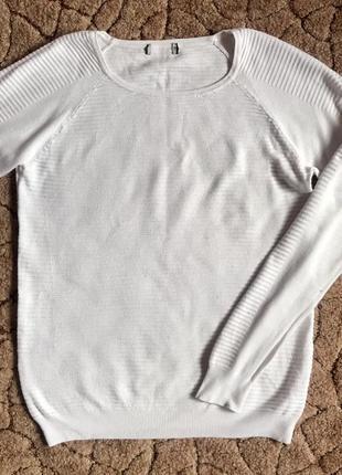 Женский белый свитер, джемпер, пуловер, кофта, водолазка