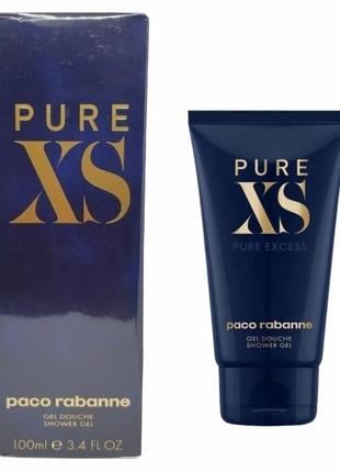 Paco rabanne pure xs shower gel 100 ml парфюмированный мужской  гель для душа.