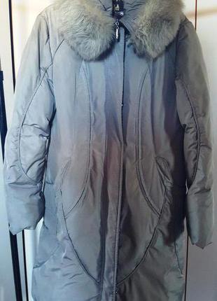 Пуховое пальто с капюшоном, пуховик ниже колена снизила цену с 1000 до 649 грн.