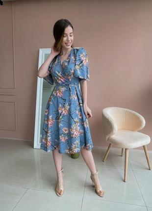 Платье с цветочным принтом (все расцветки)6 фото