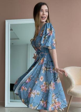 Платье с цветочным принтом (все расцветки)3 фото