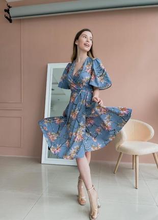 Платье с цветочным принтом (все расцветки)1 фото