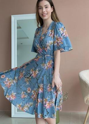 Платье с цветочным принтом (все расцветки)8 фото