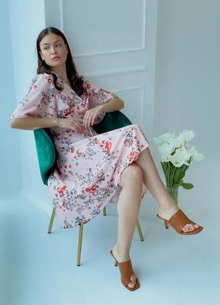 Платье с цветочным принтом (все расцветки)2 фото