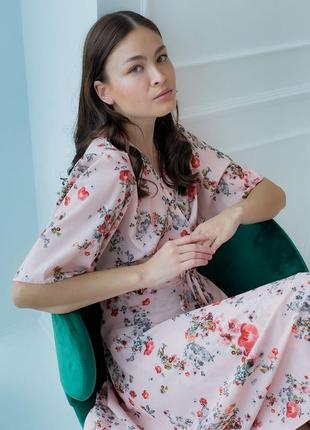 Платье с цветочным принтом (все расцветки)7 фото