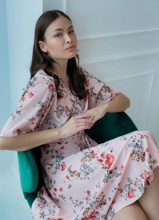 Платье с цветочным принтом (все расцветки)4 фото