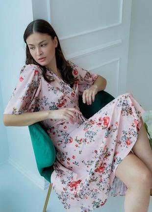 Платье с цветочным принтом (все расцветки)5 фото