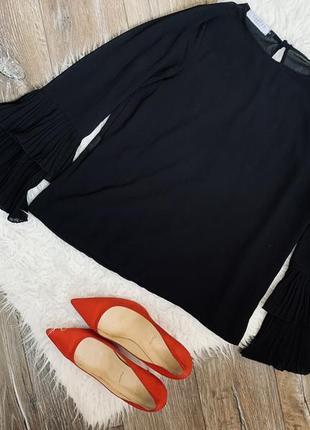 Стильная брендовая шифоновая блуза от costes . италия.