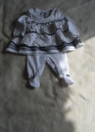 Человечек + платье newborn