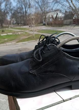 Люксовые туфли bugtti натуральная кожа 48 разм