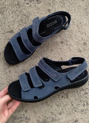 P.39 ecco (оригинал) кожаные босоножки, сандалии.