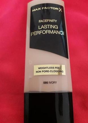 Тональный крем facefinity lasting performance, max factor,  095 ivory