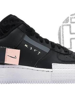 Мужские кроссовки nike air force 1 black pink white all01007