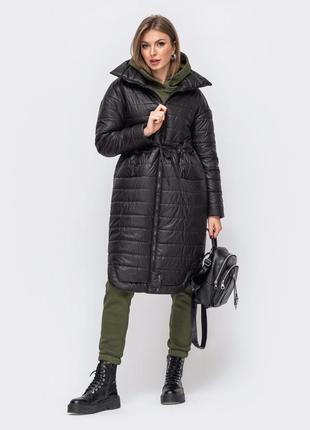 Много цветов! куртка женская чёрная демисезонная удлиненная без капюшона пальто плащ