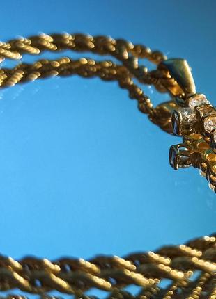 Золотые с подвеской
