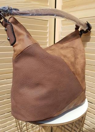 Красивая вместительная сумка мешок на каждый день