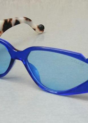 Celine стильные женские солнцезащитные очки синие с леопардовыми дужками