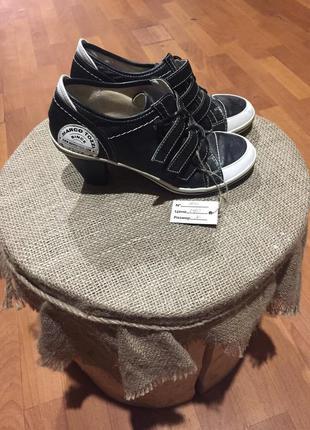 Туфли кроссовки полусапожки на каблуке marco tozzi (104)