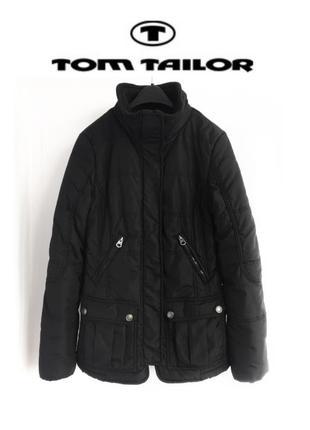 Черная куртка tom tailor оригинал весенняя курточка деми демисезонная куртка