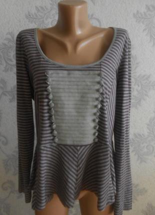 Трикотажная блузка с баской next в идеальном состоянии батал