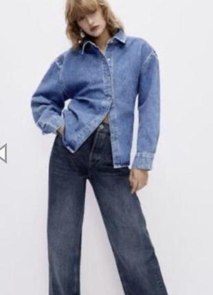 Zara рубашка джинсовая пиджак размер s новая  оригинал новая коллекция!