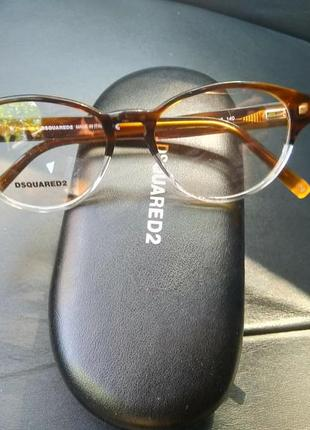 Новая оправа dsquared2 очки прозрачная леопард made in italy оригинал