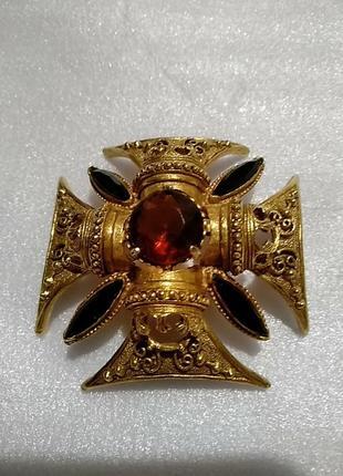 Florenza. мальтийский крест брошь подвеска