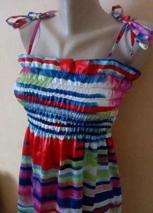 Сарафан.женский сарафан на завязках.полосатый сарафан.3 фото