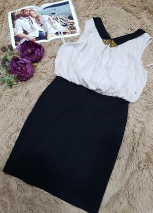 Комбинированное платье в классическом стиле воротник воротничок вышивка бисер