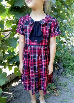 Платье в клетку 6 лет