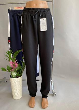 Спортивные штаны, спортивные штаны с манжетами, джоггеры, штаны с лампасами р-р 50-54